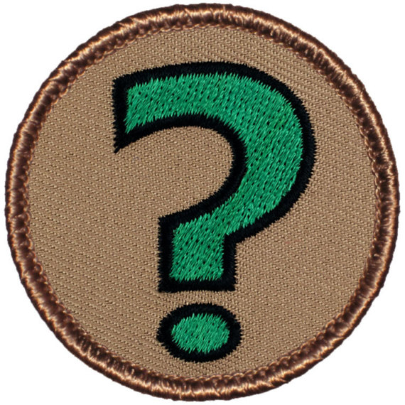 Image result for question mark merit badge
